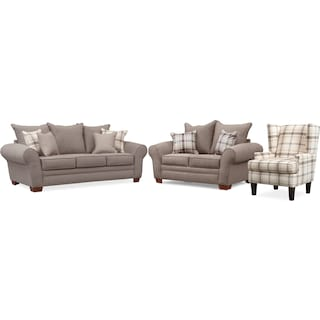 Rowan Sofa, Loveseat and Accent Chair