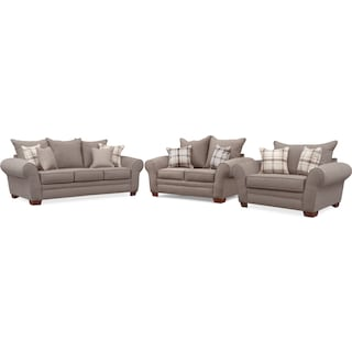 Rowan Sofa, Loveseat and Chair and a Half