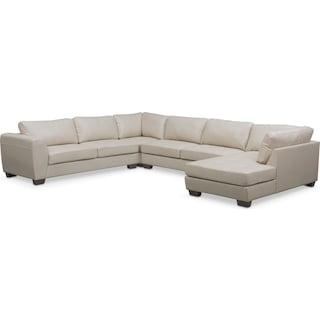 Santana 4-Piece Sectional with Right-Facing Chaise - Ivory