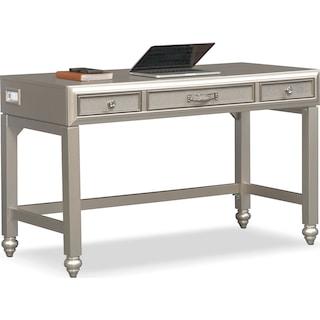 Serena Vanity Desk - Platinum