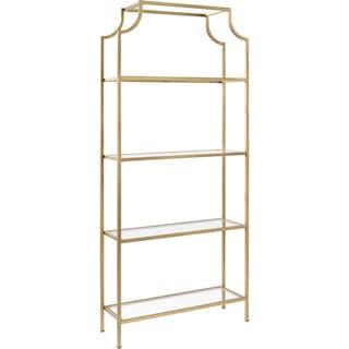 Shea Bookcase - Gold