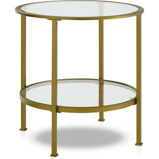 Shea End Table - Gold