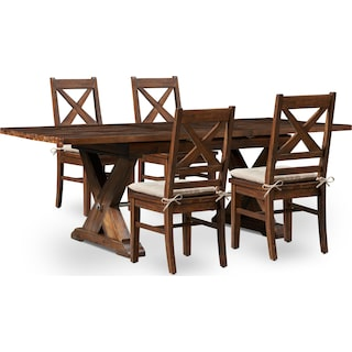 Shiloh Dining Table and 4 Dining Chairs