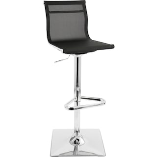 Soho Adjustable Swivel Bar Stool - Black