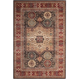 Sonoma 8' x 10' Area Rug - Chocolate and Red