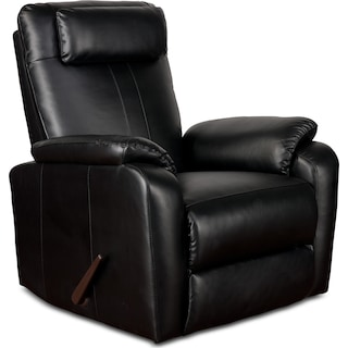 Sparta Manual Rocker Recliner - Black