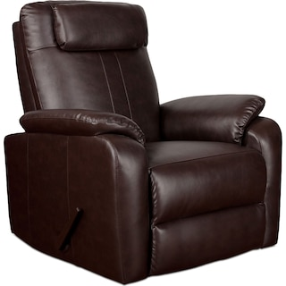 Sparta Manual Rocker Recliner - Brown