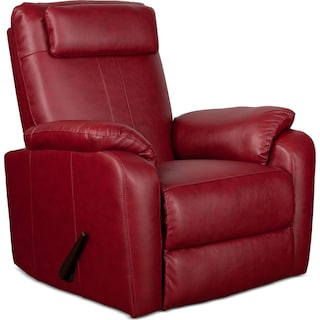 Sparta Manual Rocker Recliner - Red