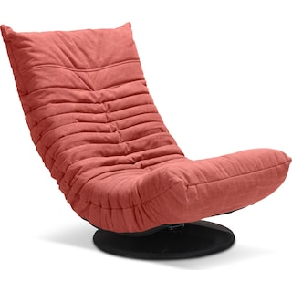 Swivel Gaming Chair - Coral Red