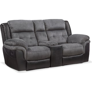 Tacoma Manual Reclining Loveseat - Black