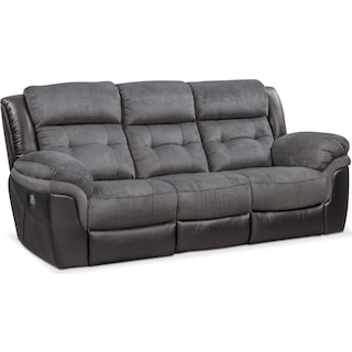 Tacoma Dual-Power Reclining Sofa - Black