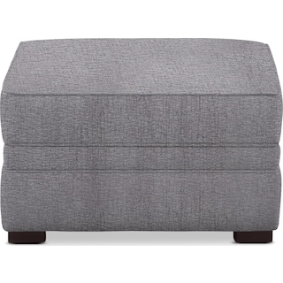 Tallulah Ottoman - Living Large Charcoal