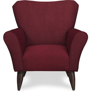 Kady Accent Chair - Modern Velvet Wine