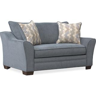 Trevor Twin Memory Foam Sleeper Chair and a Half - Blue