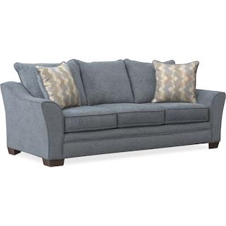 Trevor Queen Foam Sleeper Sofa - Blue