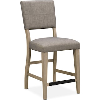 Tribeca Counter-Height Upholstered Dining Chair- Gray