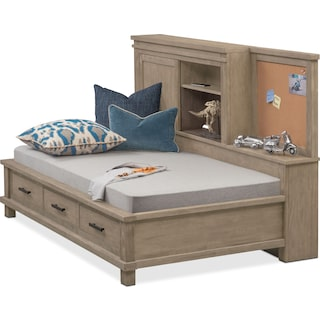 Tribeca Youth Twin Lounge Storage Bed - Gray