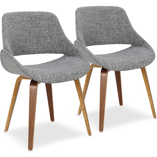 Uma Set of 2 Dining Chairs - Gray