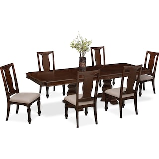 Vienna Dining Table and 6 Dining Chairs