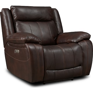 Vince Dual-Power Recliner - Brown