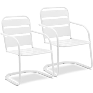 Wallace Set of 2 Outdoor Chairs - White