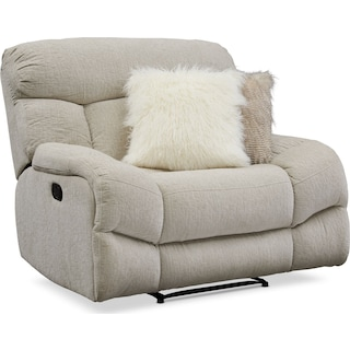Wave Manual Recliner - Ivory