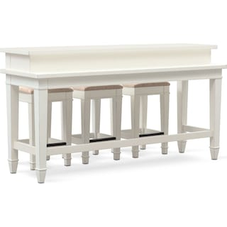 Waverly Sofa Table and 3 Stools