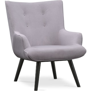 West End Accent Chair - Light Gray