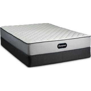 BR800 Firm Queen Mattress and Low-Profile Split Foundation