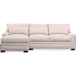 Winston Comfort 2-Piece Sectional with Left-Facing Chaise - Beige
