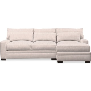 Winston Cumulus 2-Piece Sectional with Right-Facing Chaise - Beige