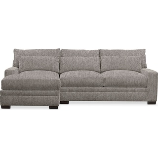 Winston Performance Comfort 2-Piece Sectional with Left-Facing Chaise - Halifax Dove