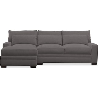 Winston Performance Comfort 2-Piece Sectional with Left-Facing Chaise - Benavento Stone
