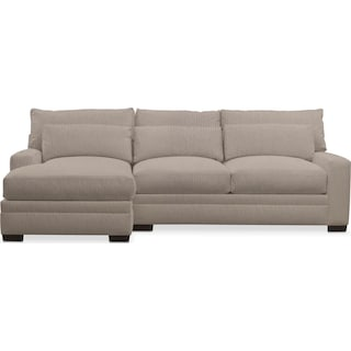 Winston Comfort 2-Piece Sectional with Left-Facing Chaise - Weddington Cement