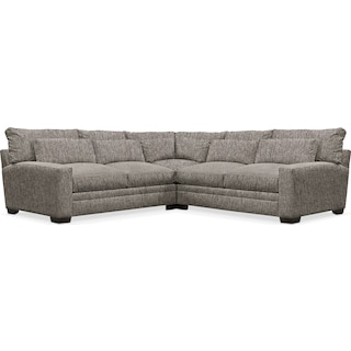 Winston Cumulus Performance 3-Piece Sectional - Halifax Dove