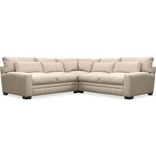 Winston Comfort Performance 3-Piece Sectional - Halifax Shell