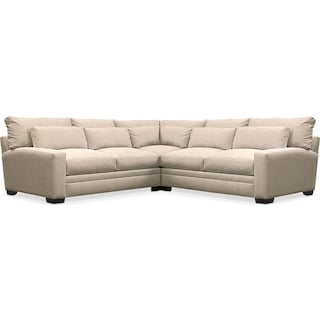 Winston Cumulus Performance 3-Piece Sectional - Halifax Shell