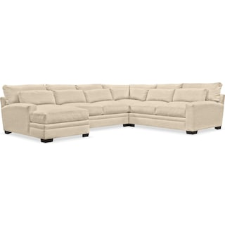 Winston Cumulus 4-Piece Sectional with Left-Facing Chaise - Curious Pearl