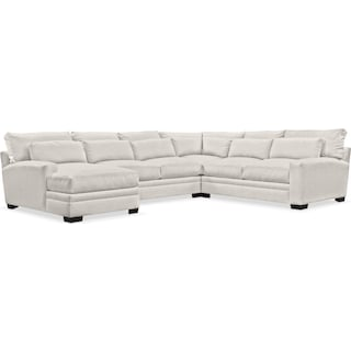 Winston Cumulus 4-Piece Sectional with Left-Facing Chaise - Anders Ivory