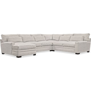 Winston Cumulus 4-Piece Sectional with Left-Facing Chaise - Living Large White