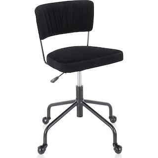 Zella Office Chair - Black Velvet