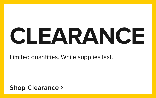 Clearance - shop now