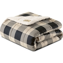 acadia light brown blanket