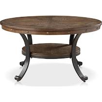 acela dark brown coffee table