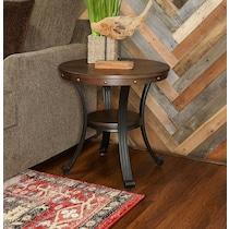 acela dark brown end table
