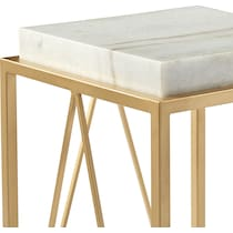 adele gold accent table