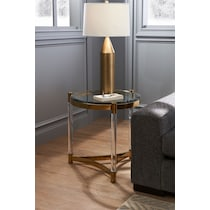 adeline gold end table