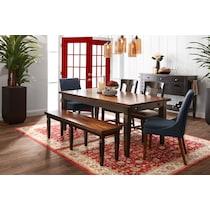 adler black dining table