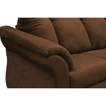adrian dark brown  pc sectional and chair