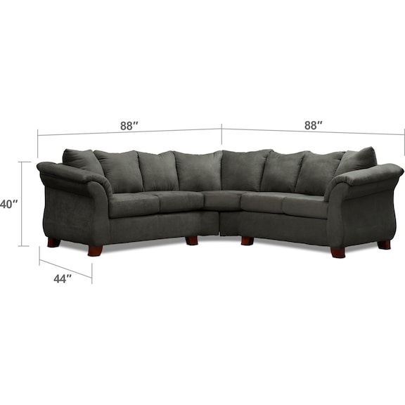 Living Room Furniture - Adrian 2-Piece Sectional and Chair Set